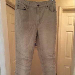 "DG2 ""Moto"" 5 pocket khaki jeans, size 10"